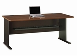 "72"" Desk - Series A Walnut Collection - Bush Office Furniture - WC25572"