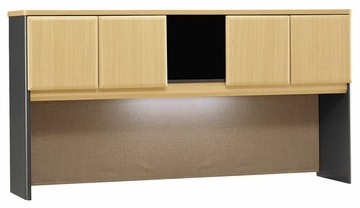 "72"" Hutch - Series A Beech Collection - Bush Office Furniture - WC14373"