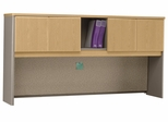 "72"" Hutch - Series A Light Oak Collection - Bush Office Furniture - WC64373"