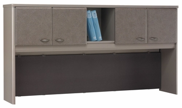 "72"" Hutch - Series A Pewter Collection - Bush Office Furniture - WC14573"