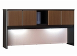 "72"" Hutch - Series A Walnut Collection - Bush Office Furniture - WC25573"