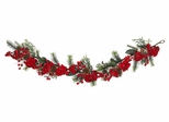 "72"" Hydrangea Garland in Red / Green - Nearly Natural - 4663"