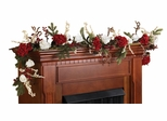 "72"" Hydrangea with White Roses Garland - Nearly Natural - 4900"