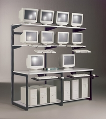 72 Inch E-LAN Computer Station - Mayline Office Furniture - 21172EZ