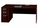 "72"" Left Credenza with Pedestal - Quantum Harvest Cherry Collection - Bush Office Furniture - QT4736CSK"