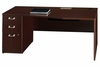 "72"" Left Hand Desk with Pedestal - Quantum Harvest Cherry Collection - Bush Office Furniture - QT0736CSK"