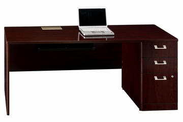"72"" Right Credenza with Pedestal - Quantum Harvest Cherry Collection - Bush Office Furniture - QT4746CSK"