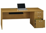 "72"" Right Credenza with Pedestal - Quantum Modern Cherry Collection - Bush Office Furniture - QT4746MCK"