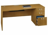 "72"" Right Hand Desk with Pedestal - Quantum Modern Cherry Collection - Bush Office Furniture - QT0746MCK"
