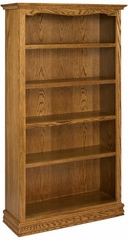 "72"" Solid Oak Bookcase - A and E Wood Design - 3672AMER"