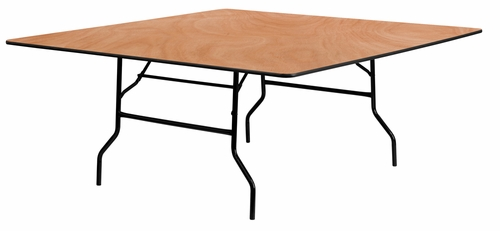 72'' Square Wood Folding Banquet Table - YT-WFFT72-SQ-GG