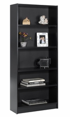 "72"" Tall Bookcase in Black - Essentials Collection - Nexera Furniture - 731206"