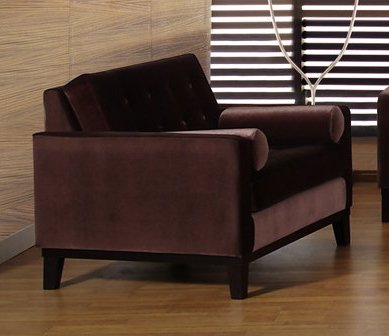 725 Centennial Chair in Brown Velvet - Armen Living - LC7251BR