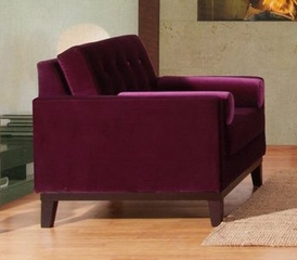 725 Centennial Chair in Purple Velvet - Armen Living - LC7251PU