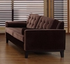 725 Centennial Loveseat in Brown Velvet - Armen Living - LC7252BR