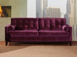725 Centennial Sofa in Purple Velvet - Armen Living - LC7253PU