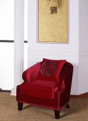730 Contessa Club Chair in Red Velvet - Armen Living - LC730CLRE