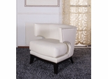734 Eclipse Club Chair in Creme Vinyl / Espresso - Armen Living - LC734CLCR