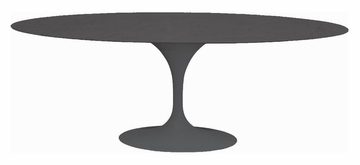 "79"" Oval Saarinen Dining Table in Black - RT-335V-BLACK"