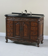 8 Drawer Vanity in Walnut Burl - Ultimate Accents - 13200S