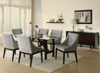 8-Piece Dining Room Furniture Set in Cappuccino - Coaster - 102231-5-DSET