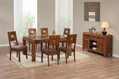 8-Piece Dining Room Furniture Set in Light Natural - Coaster - 102191-5-DSET