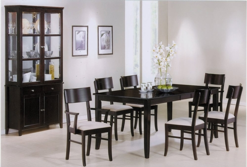 8-Piece Dining Room Furniture Set in Rich Cappuccino - Coaster