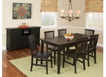 8-Piece Dining Set in Ebony - Arts and Crafts - 5181-DSET-1