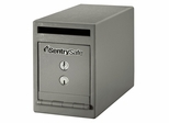 "8""W Under Counter Drop Slot Depository Safe - Sentry Safe - UC-039K"