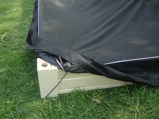 "8"" Waterproof Sandbox Cover in Black - NewAgeGarden - ESB001-4x4"