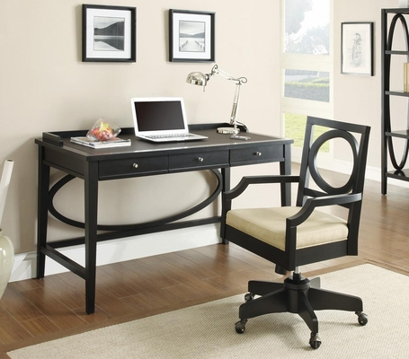 800460 Contemporary Desk and Office Arm Chair Office Set - 800463