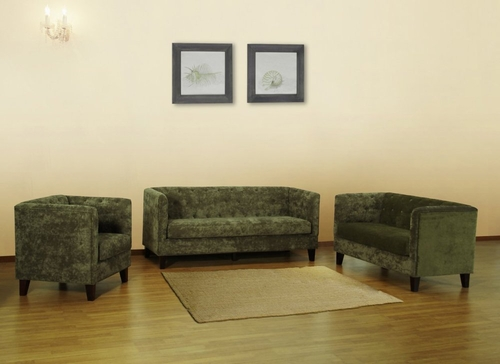 843 Melrose Sofa Set in Green Chenille - Armen Living - 843-SSET