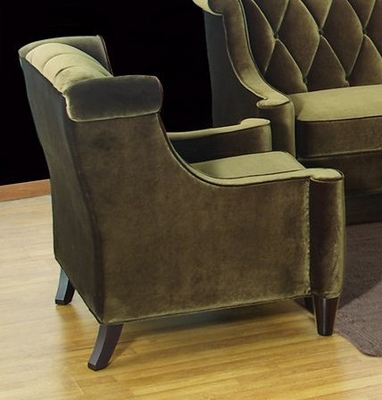 844 Barrister Chair in Green Velvet - Armen Living - LC8441GREEN
