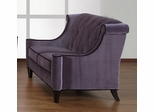844 Barrister Loveseat in Gray Velvet/Black Piping - Armen Living - LC8442GRAY