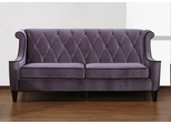 844 Barrister Sofa in Gray Velvet/Black Piping - Armen Living - LC8443GRAY