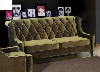 844 Barrister Sofa in Green Velvet - Armen Living - LC8443GREEN
