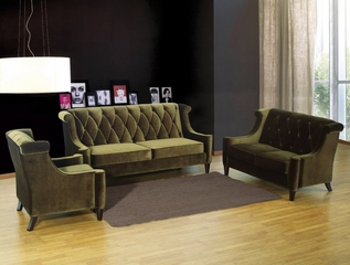 844 Barrister Sofa Set in Green Velvet - Armen Living - 844-SSET-2