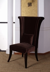 847 Mad Hatter Dining Chair in Deep Brown Velvet - Armen Living - LC847SIBR