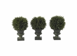 "9"" Cedar Ball Topiary (Set of 3) - Nearly Natural - 4761"