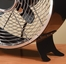 "9"" Colored Retro Metal Box Fan - Black- Deco Breeze - DBF0599"