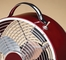 "9"" Colored Retro Metal Box Fan - Merlot- Deco Breeze - DBF0597"