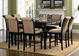9-Piece Counter Height Dining Set in Rich Cappuccino - Coaster