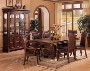 9-Piece Dining Room Furniture Set in Cherry - Coaster