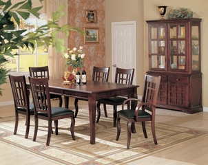 9-Piece Dining Room Furniture Set in Cherry - Coaster - COAST-11005001-DSET-1