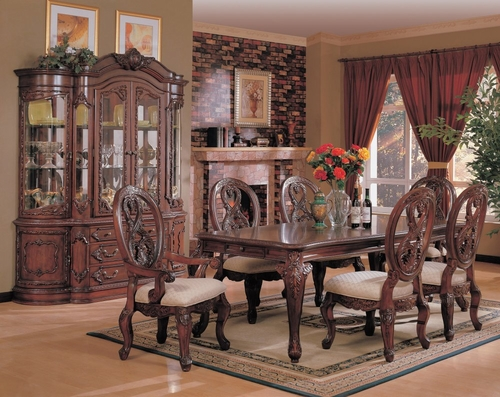 9-Piece Dining Room Furniture Set in Cherry - Coaster - COAST-11010211-DSET-1