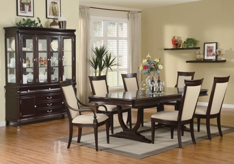 9-Piece Dining Room Furniture Set in Merlot Cappuccino - Coaster