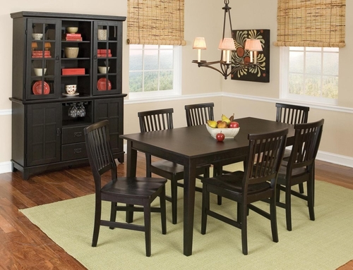 9-Piece Dining Set in Ebony - Arts and Crafts - 5181-DSET-2