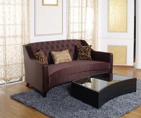 904 Portico Sofa Set in Eggplant Fabric - Armen Living - 904-SSET