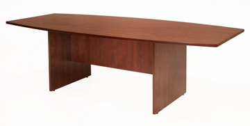 95 Inch Boat Shaped Conference Table - Sandia Laminate - SCTBS9543