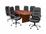 "95"" Legacy Conference Tablewith 6 Carrera 1040 Swivel Chairs - ROF-LCTRT95431040BK"